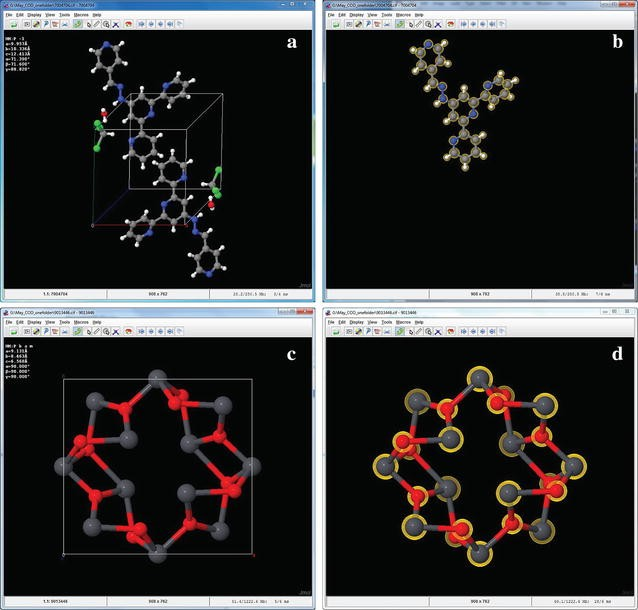 Programmatic conversion of crystal structures into 3D