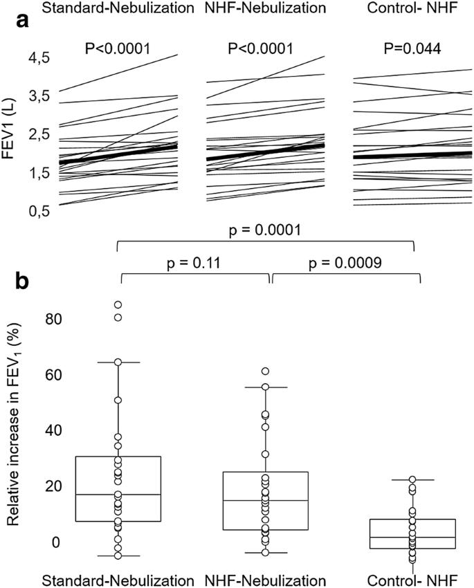 Nasal high-flow bronchodilator nebulization: a randomized cross-over