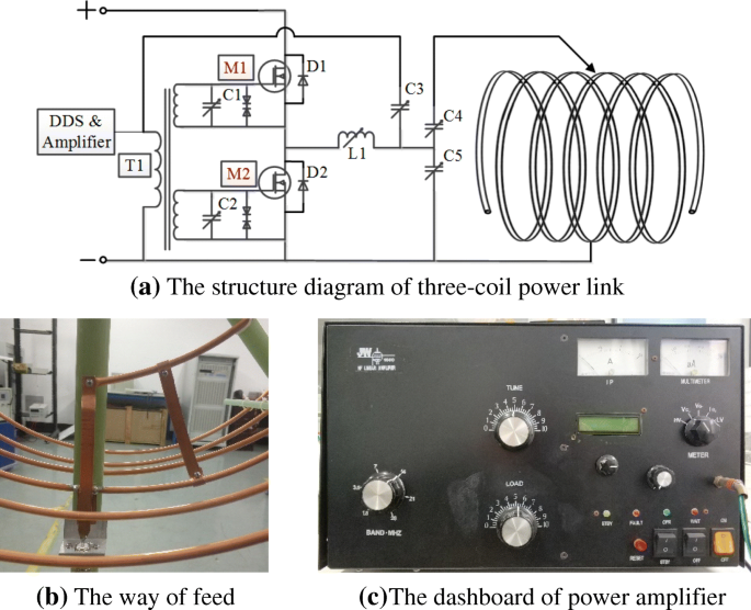 An improved three-coil wireless power link to increase spacing