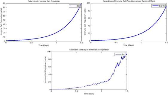 Comparison of stochastic and random models for bacterial