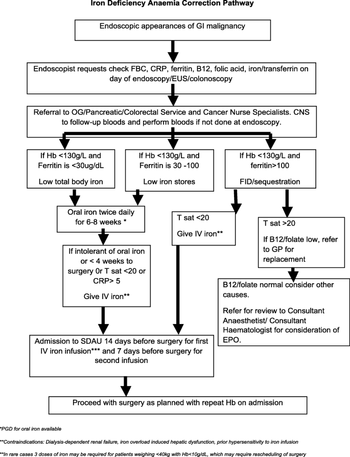 The Impact Of Preoperative Systemic Inflammation On The Efficacy Of Intravenous Iron Infusion To Correct Anaemia Prior To Surgery For Colorectal Cancer Springerlink