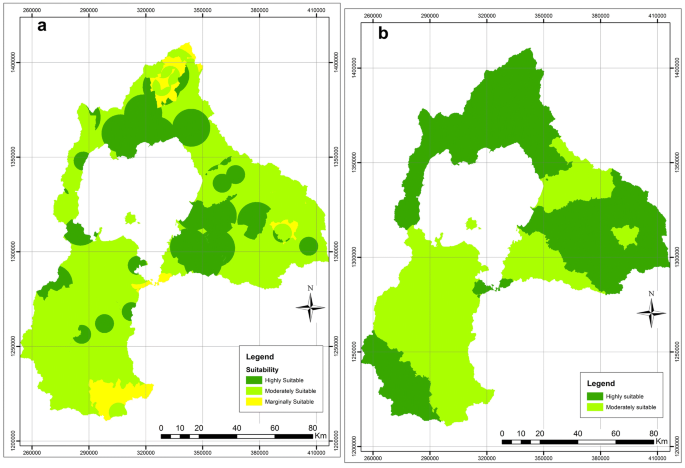 GIS modeling of potentially suitable sites for aquaculture