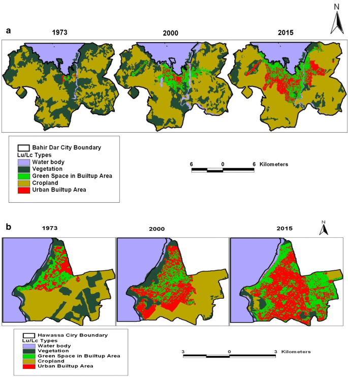 Spatiotemporal trends of urban land use/land cover and green