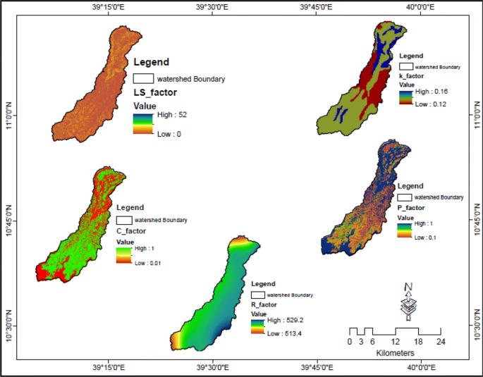 Soil erosion mapping and severity analysis based on RUSLE