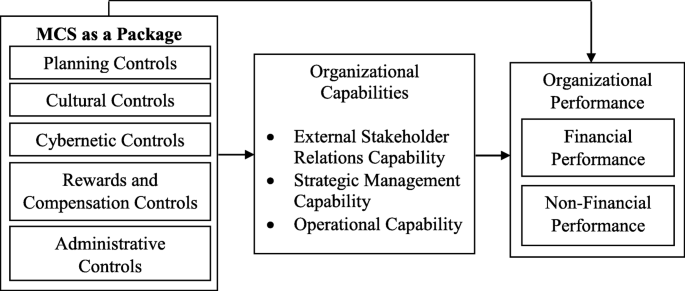 The mediating role of organizational capabilities between