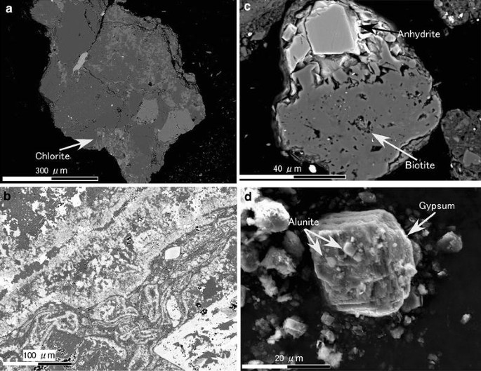 Mineralogical study on volcanic ash of the eruption on September 27