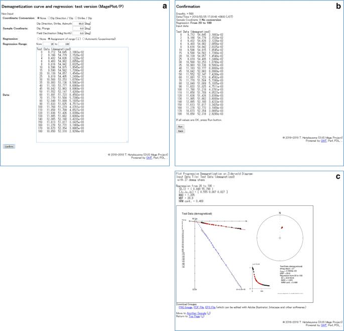 Online plotting applications for paleomagnetic and rock magnetic