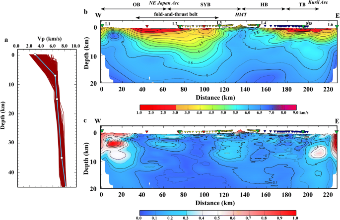 Structural Heterogeneity In And Around The Fold And Thrust Belt Of The Hidaka Collision Zone Hokkaido Japan And Its Relationship To The Aftershock Activity Of The 2018 Hokkaido Eastern Iburi Earthquake Earth Planets