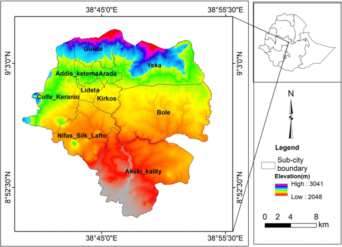 GIS based quantification and mapping of climate change