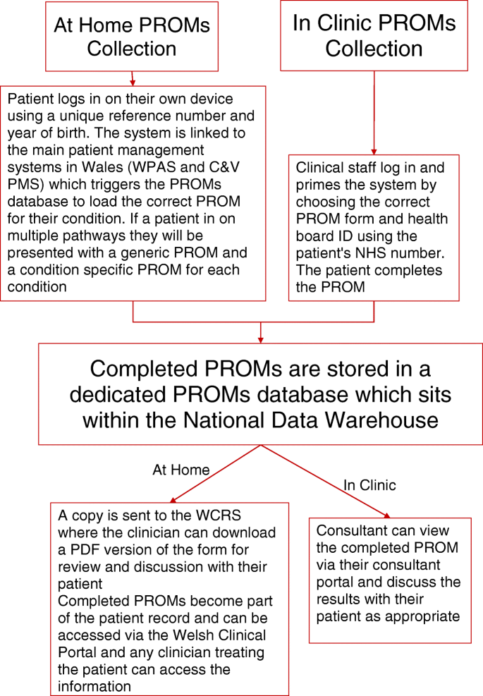 Requirements for the collection of electronic PROMS either