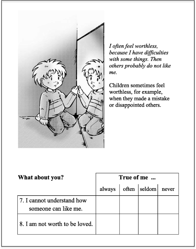 The Dusseldorf Illustrated Schema Questionnaire for Children (DISC