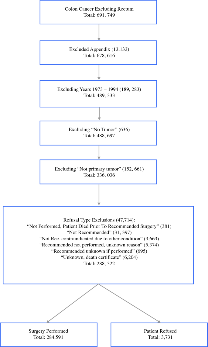 Refusal Of Cancer Directed Surgery In Patients With Colon Cancer Risk Factors Of Refusal And Survival Data Springerlink