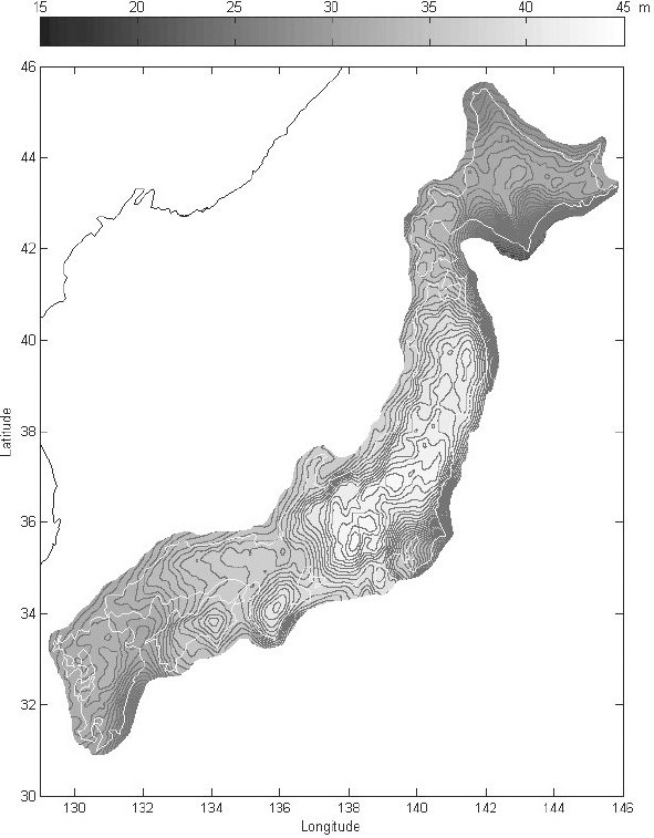 A high-resolution gravimetric geoid model for Japan from