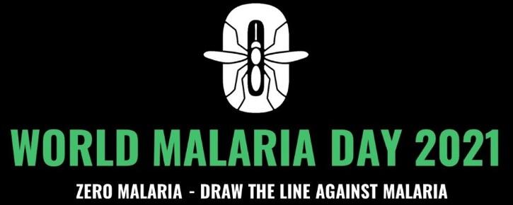 World Malaria Day 2021 logo from Roll Back Malaria via BioMed Central