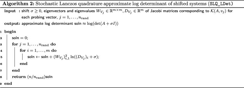 Stochastic Lanczos estimation of genomic variance components