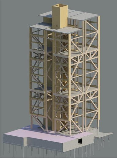 Some structural design issues of the 14-storey timber framed
