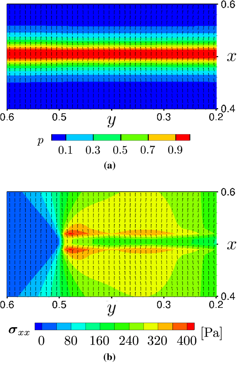 A phase-field crack model based on directional stress