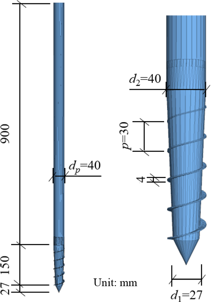 DEM modelling of screw pile penetration in loose granular