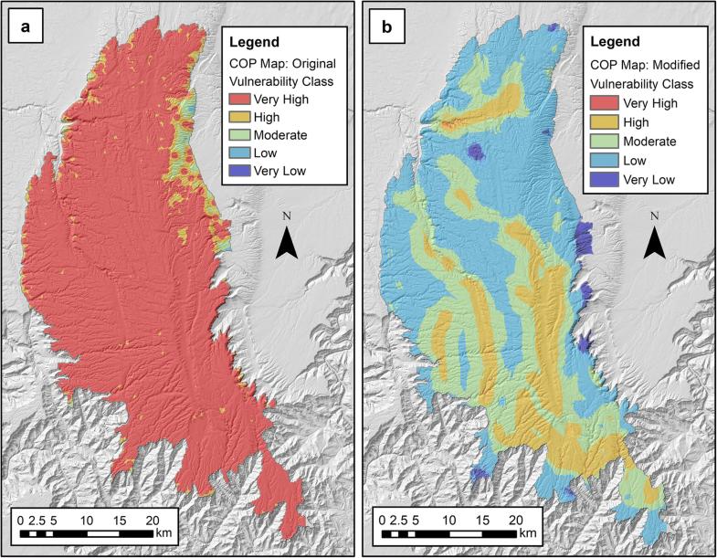 Modeling intrinsic vulnerability of complex karst aquifers ... on map legend symbol, map legend table, map legend example,