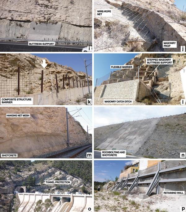Assessment of corrective measures for alleviating slope