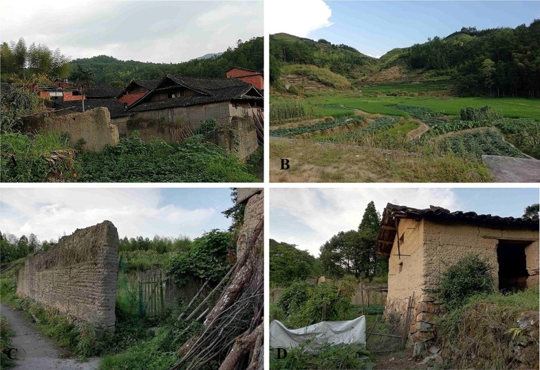 Manifestations and patterns of village abandonment in mountains of
