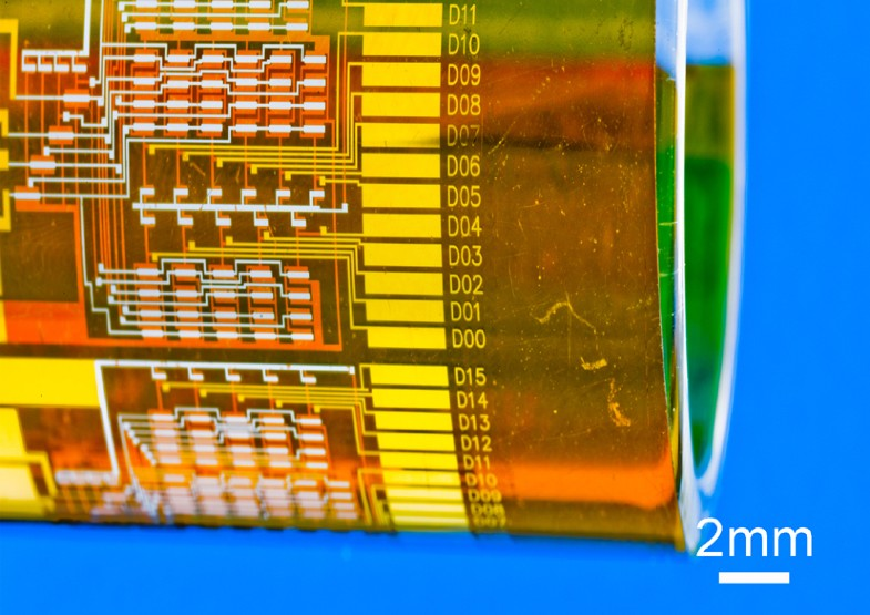 development of an ultra thin film comprised A new flexible substrate for flexible electronics has been developed the developed substrate consists of an ultra thin glass and tac (triacethyl cellulose) film.