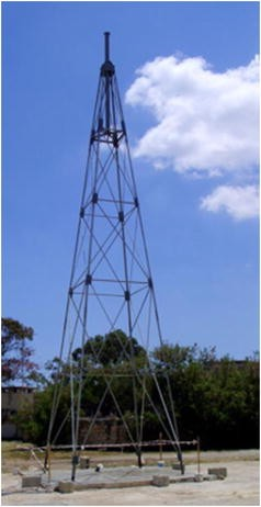 Structural assessment of a lattice tower for a small, multi-bladed