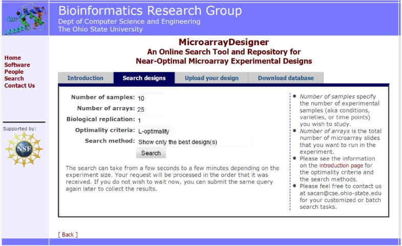 MicroarrayDesigner: an online search tool and repository for