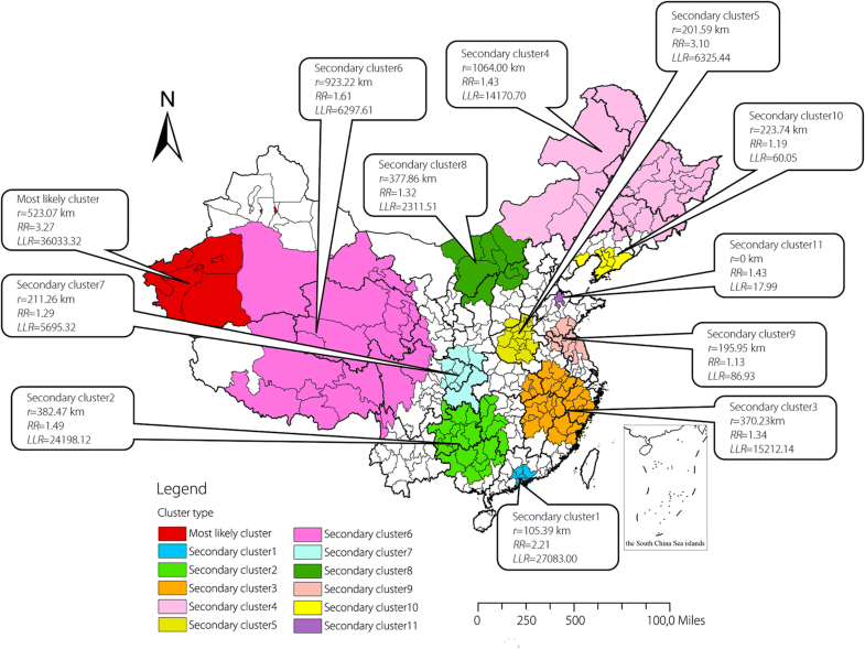 Spatial and temporal clustering analysis of tuberculosis in the ...