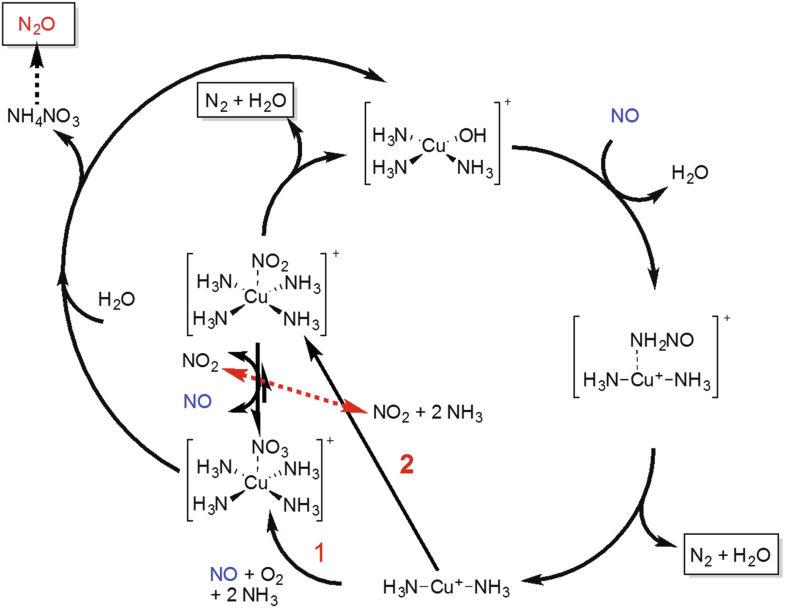 on the mechanism of ammonia scr over cu