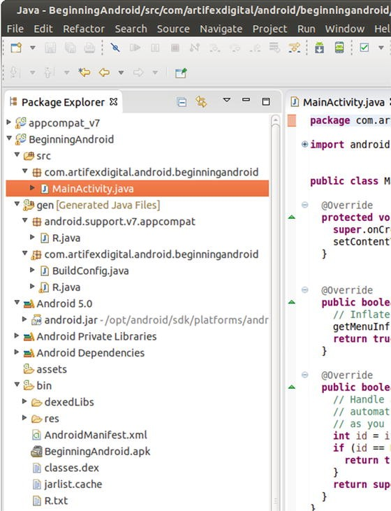 Inside Your First Android Project | SpringerLink