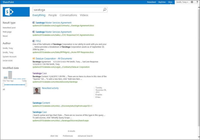 Sharepoint Newsfeed