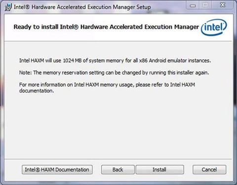Using Intel Hardware Accelerated Execution Manager on