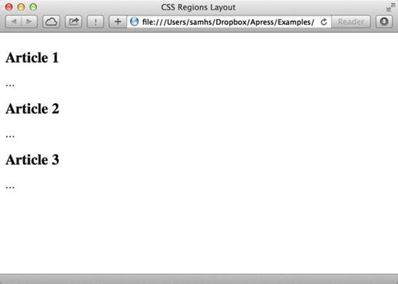 CSS Regions Layout | SpringerLink