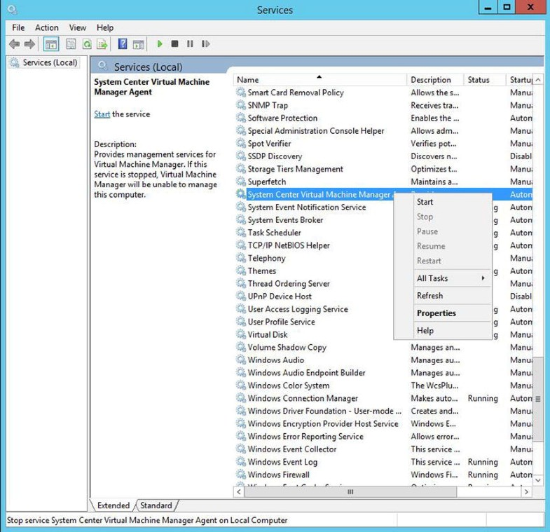 Using System Center Virtual Machine Manager for Virtual