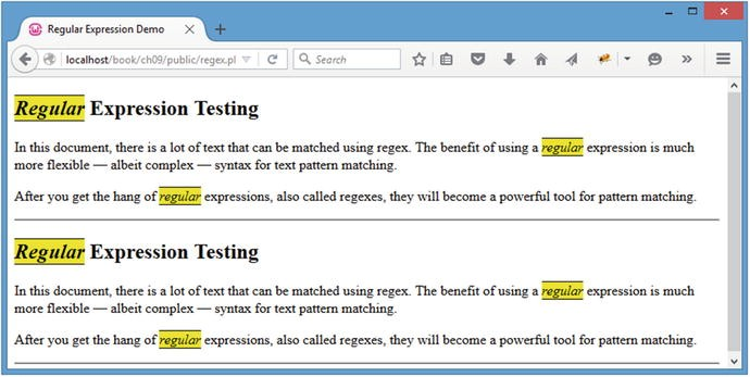 Performing Form Validation with Regular Expressions
