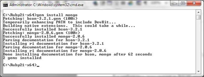 Using MongoDB with Ruby   SpringerLink