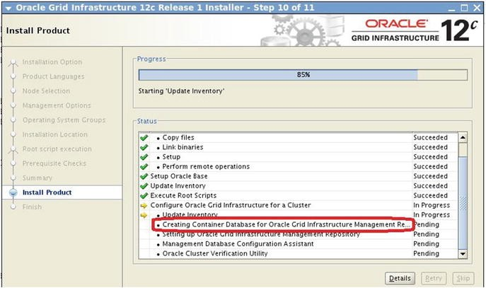 Ora cle GI and Ora cle 12 c Database Upgrades in RAC