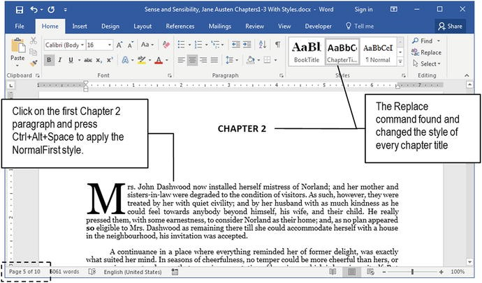 Quick Document Formatting with Styles | SpringerLink