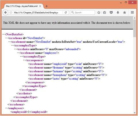 XML in ADO NET | SpringerLink