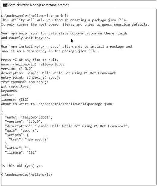 Develop Bots Using Node js | SpringerLink