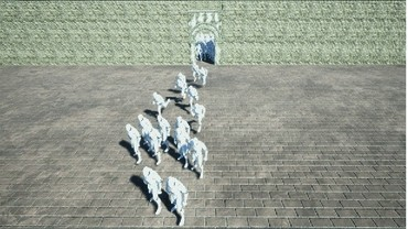 Real-Time Simulation of Animated Characters Crowd in Unreal
