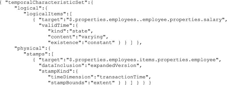 Managing Temporal and Versioning Aspects of JSON-Based Big