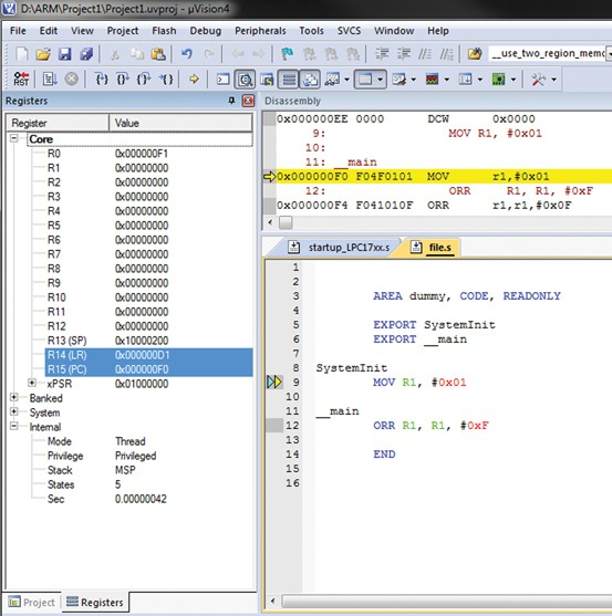 ARM Assembly language programming Using Keil Development