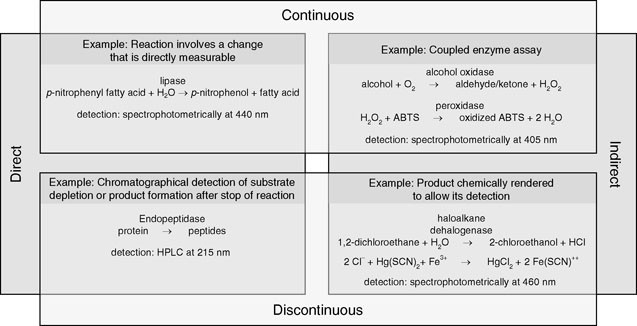 Enzyme Assays Substrate Specificities Kinetic Parameters