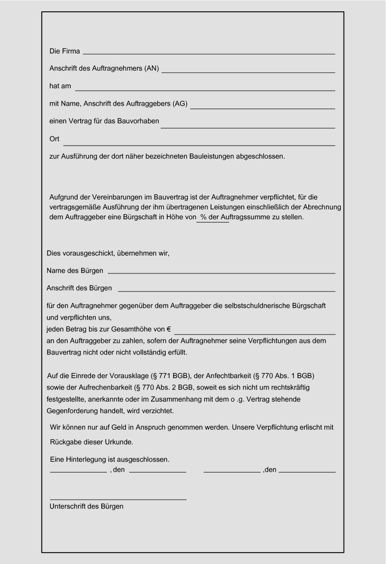 Vob Musterbriefe Fur Auftraggeber Pdf Kostenfreier Download