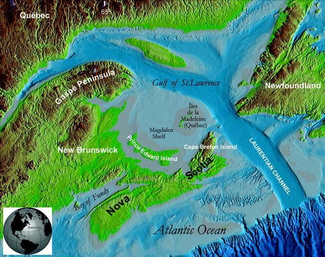 Appalachian Glacier Complex in Maritime Canada, Figure 1