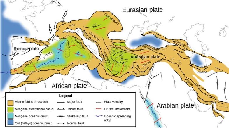 Alpine Terranes (K–Ar/Ar–Ar), Figure 1