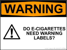 Study of the effects of electronic cigarette warnings