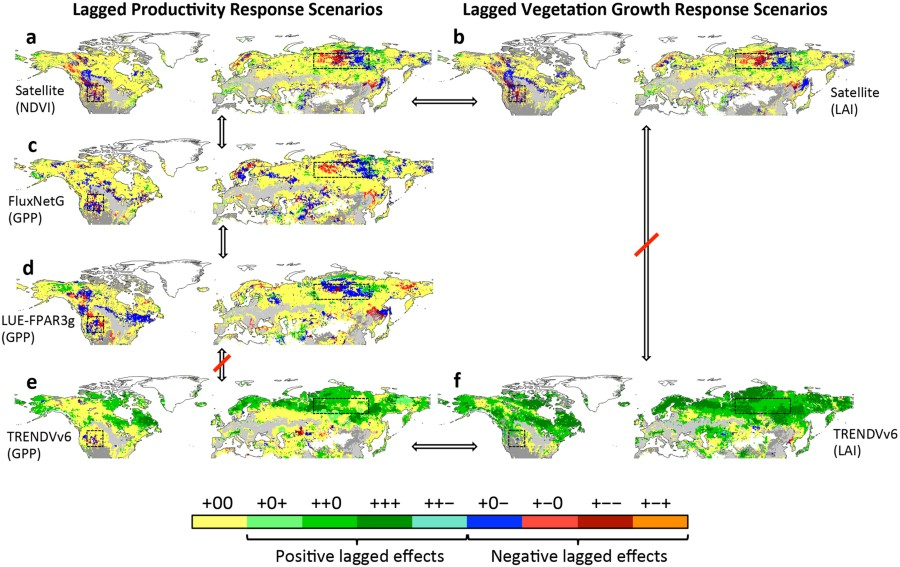 Extended Data Fig 40 Spatial Pattern Of Lagged Productivity And Inspiration Spatial Pattern